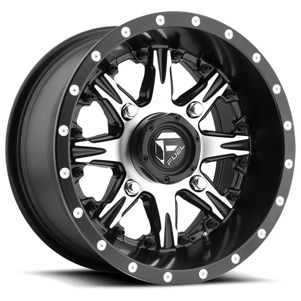 NUTZ UTV D541 BLACK RIM with MACHINED FACE by FUEL OFFROAD WHEELS