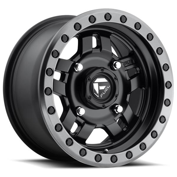 ANZA UTV D557 MATTE BLACK RIM with ANTHRACITE RING by FUEL OFFROAD WHEELS