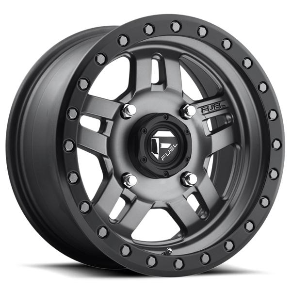 ANZA UTV D558 MATTE ANTHRACITE RIM with BLACK RING by FUEL OFFROAD WHEELS