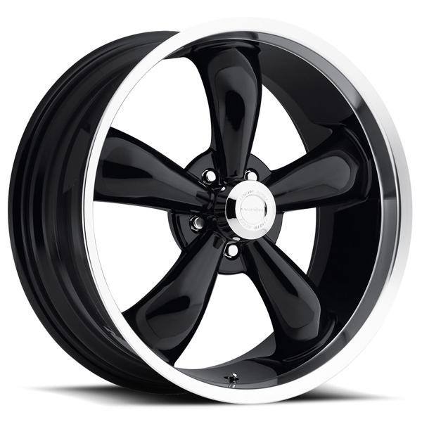 LEGEND 5 TYPE 142 BLACK RIM with MACHINED LIP by VISION WHEELS
