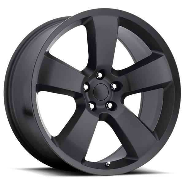 DODGE CHARGER SRT8 STYLE 61 SATIN BLACK RIM by FACTORY REPRODUCTIONS WHEELS