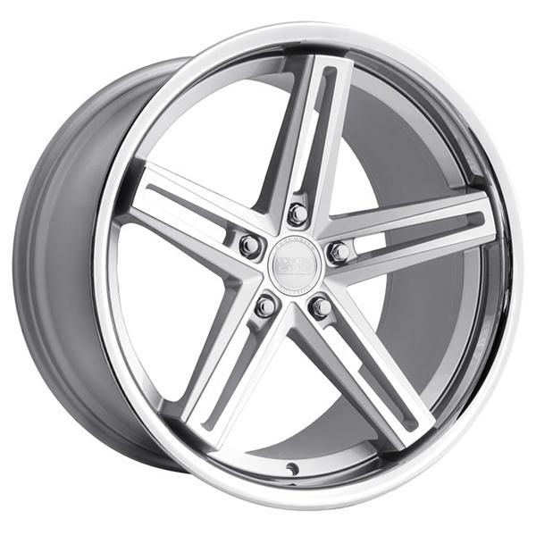 CS-55 SILVER MACHINED RIM by CONCEPT ONE WHEELS