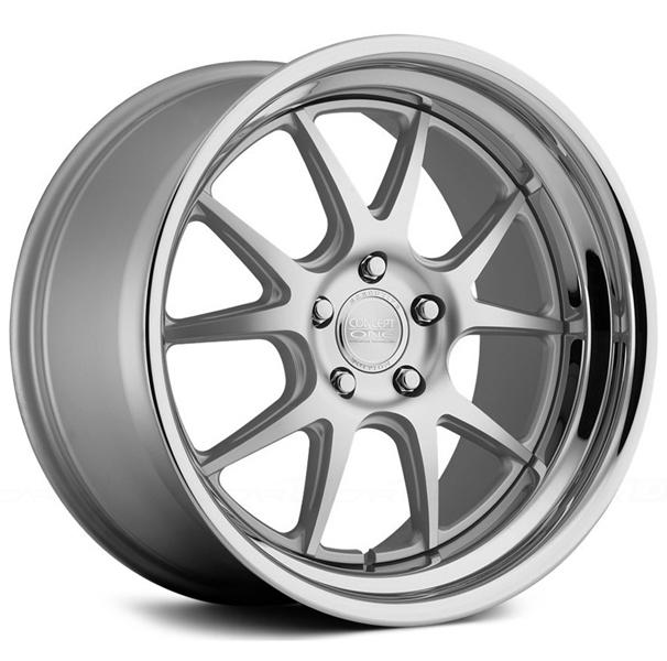 CSL-5.5 MATTE SILVER MACHINED RIM  by CONCEPT ONE WHEELS