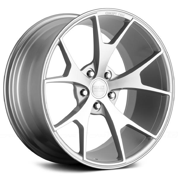 CSM-5 SILVER MACHINED RIM by CONCEPT ONE WHEELS
