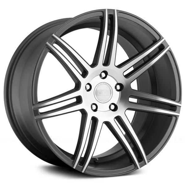 CSM7 MATTE GUNMETAL RIM with MACHINED FACE by CONCEPT ONE WHEELS