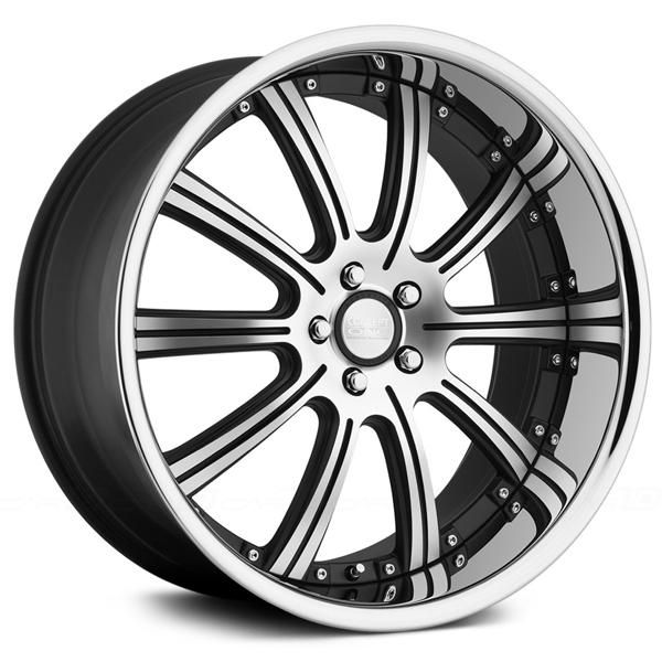 RS-10 MATTE BLACK RIM with MACHINED FACE by CONCEPT ONE WHEELS