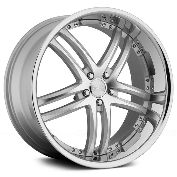 RS-55 SILVER RIM with MACHINED FACE by CONCEPT ONE WHEELS