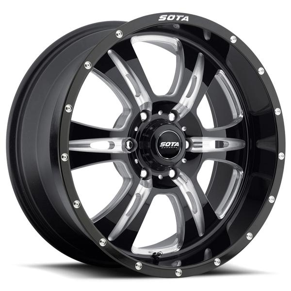 REHAB BLACK MILLED RIM 6 LUG by SOTA OFFROAD WHEELS