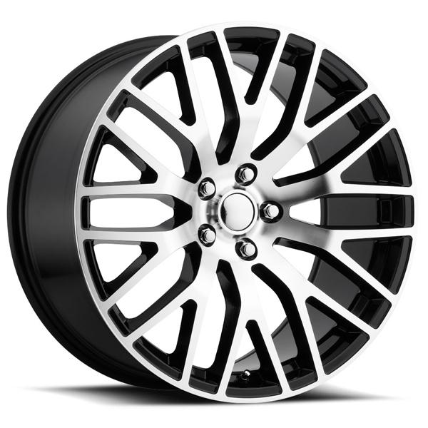 FORD MUSTANG PERFORMANCE STYLE 54 BLACK RIM with MACHINED FACE by FACTORY REPRODUCTIONS WHEELS