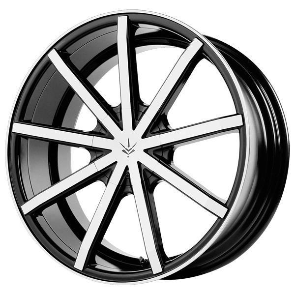 CONTRA GLOSS BLACK RIM with MACHINED FACE DISPLAY SET 1 SET ONLY - SOLD AS IS by SPECIAL BUY WHEELS