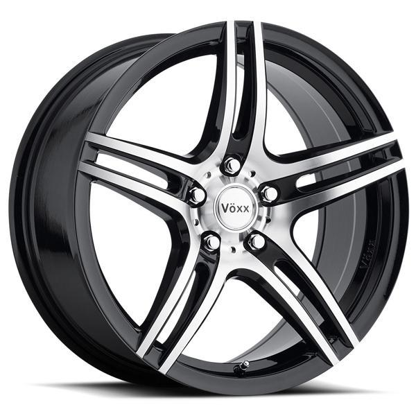 VOXX CAPRI GLOSS BLACK RIM with MACHINED FACE and BLACK LIP PPT by SPECIAL BUY WHEELS