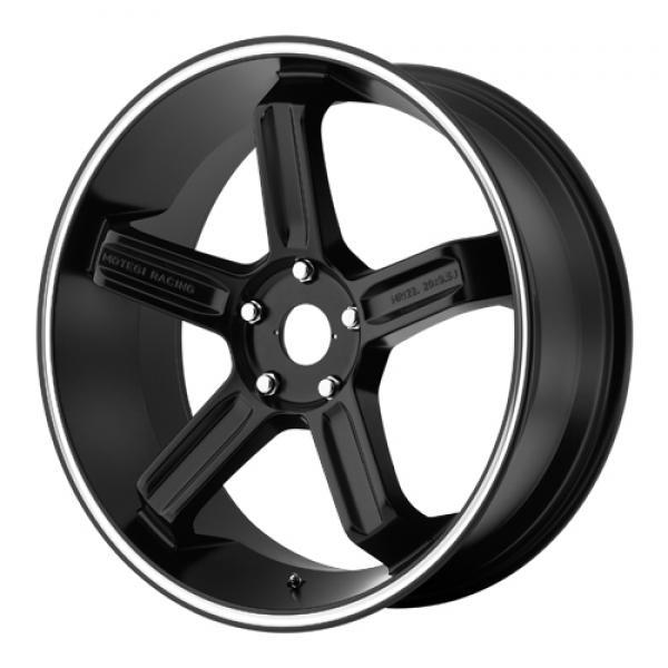MOTEGI RACING MR122 SATIN BLACK RIM with MACHINED STRIPE SET OF 4 by SPECIAL BUY WHEELS
