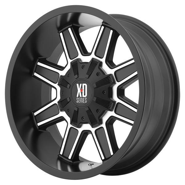 XD SERIES XD823 TRAP SATIN BLACK RIM with MACHINED FACE SET OF 4 by SPECIAL BUY WHEELS