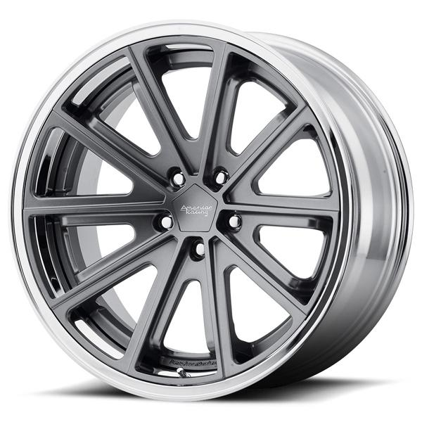 VN901 SATIN GRAY RIM with CHROME LIP by AMERICAN RACING WHEELS