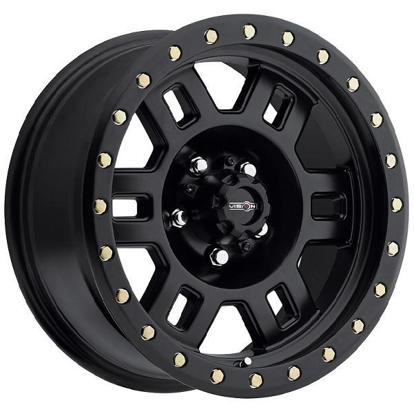 VISION MANX 398 RWD OFF-ROAD MATTE BLACK RIM DISPLAY SET 1 SET ONLY - SOLD AS IS by SPECIAL BUY WHEELS