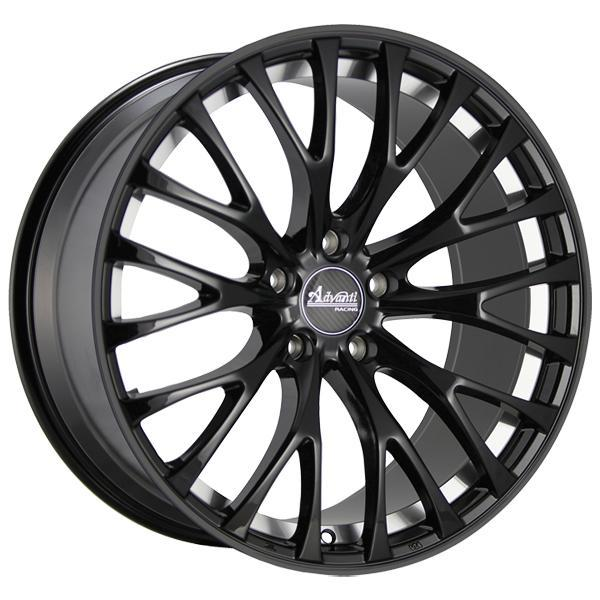 ADVANTI FS FASTOSO MATTE BLACK RIM with MACHINED UNDERCUT DISPLAY SET 1 SET ONLY by SPECIAL BUY WHEELS