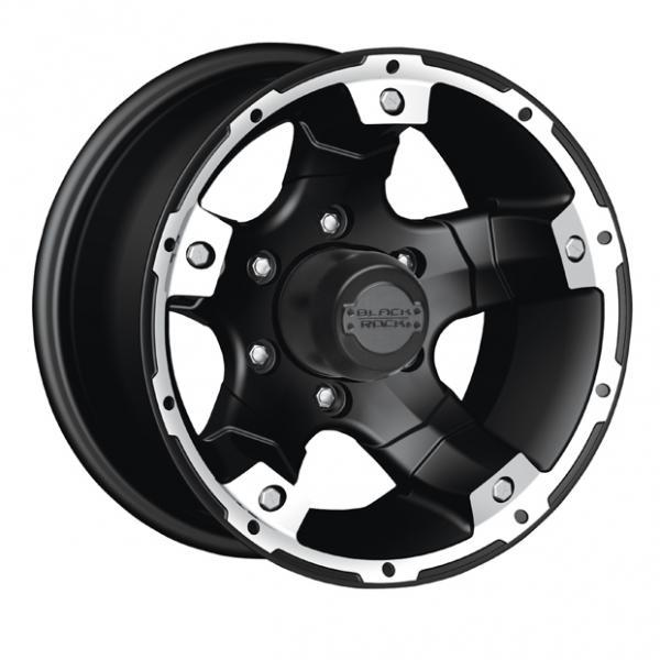 BLACK ROCK 900B VIPER BLACK RIM with MACHINED ACCENTS by SPECIAL BUY WHEELS