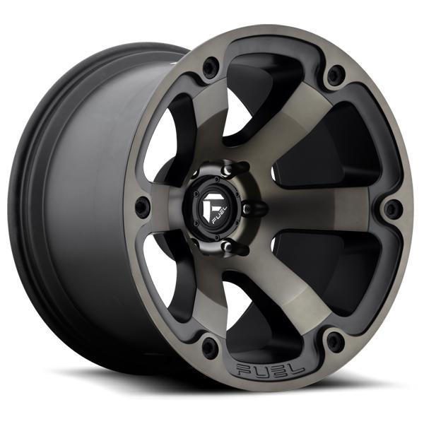 FUEL OFFROAD BEAST D564 MATTE BLACK MACHINED DDT RIM DISPLAY SET OF 5 - 1 SET ONLY - SOLD AS IS by SPECIAL BUY WHEELS