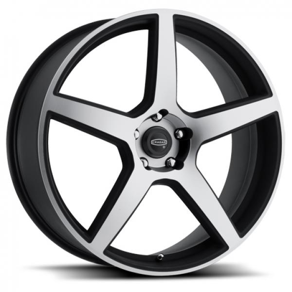 620MB MODERN MUSCLE BLACK RIM with MACHINED FACE by CRAGAR WHEELS