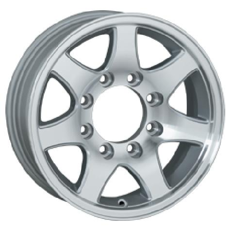 T02 TRAILER SILVER MACHINED RIM by SENDEL WHEELS