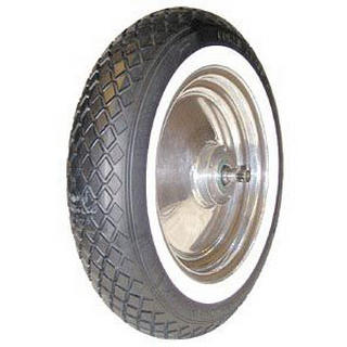 COKER SCOOTER TIRES ANTIQUE WHITEWALL TIRE 400-12 by COKER SCOOTER TIRES