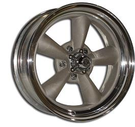 V45 2 PIECE BLASTED CENTER CENTER and MACHINED or POLISHED OUTER BARREL RIM by VINTAGE WHEEL WORKS